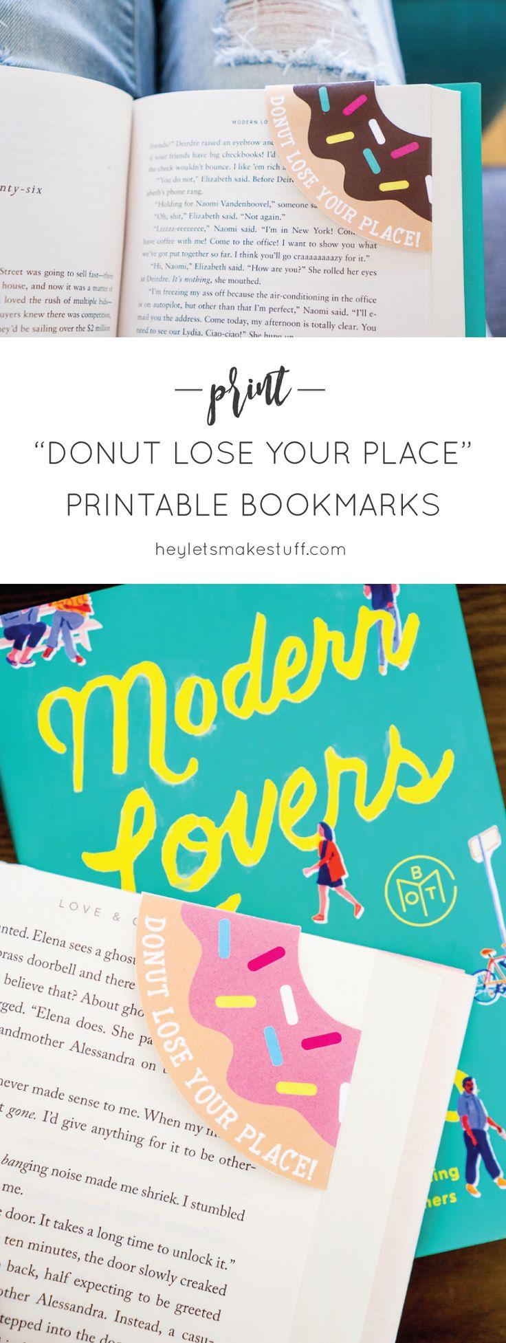 Donut Corner Bookmarks