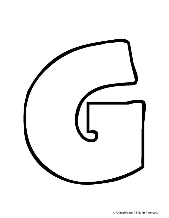 Printable Bubble Letters Bubble Letter G – Craft Jr.