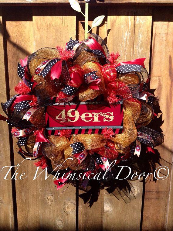 San Francisco 49ers Wreath Football Niners  on Etsy, $60.00