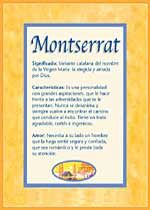 Montserrat: significado del nombre.