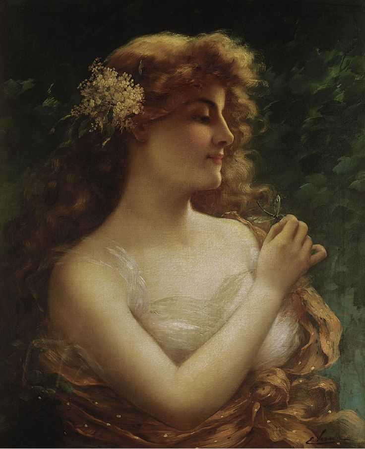 The Athenaeum - Young Woman with a Dragonfly (Emile Vernon - )