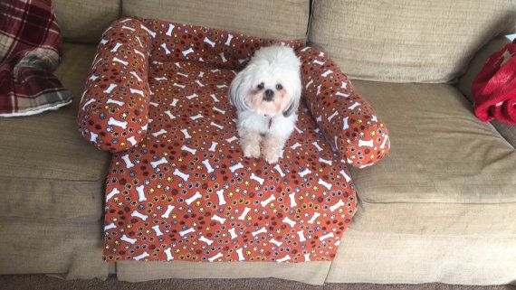 Dog Bed Couch Protector by Cathisknits on Etsy
