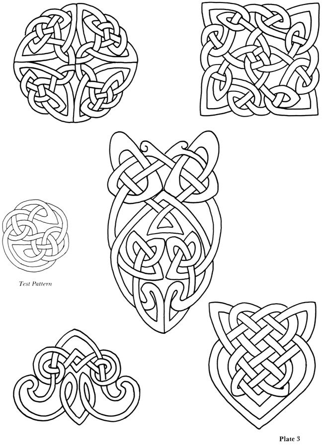 Dover copyright-free collection of iron-on Celtic designs
