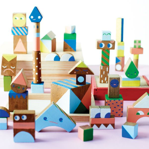 96 best wood crafts kids images on pinterest for the for Child craft wooden blocks