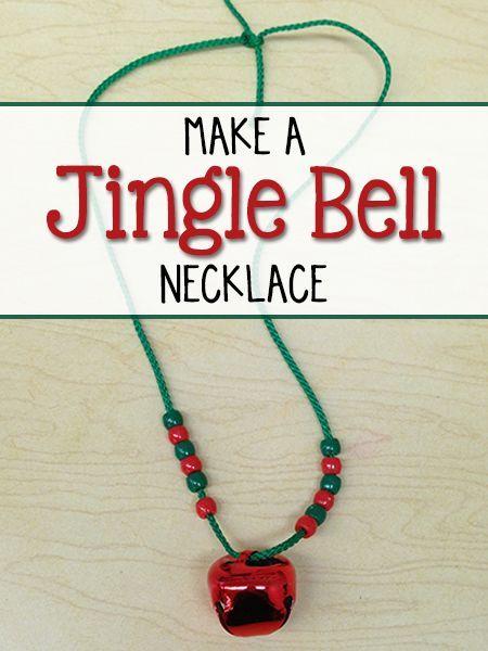 Christmas Craft for Preschool Kids: Make a Jingle Bell Necklace