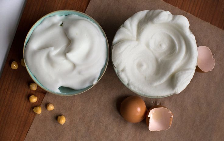 Chickpea water has become a sensation as a frothy egg substitute in mousses, meringues and mayonnaise.