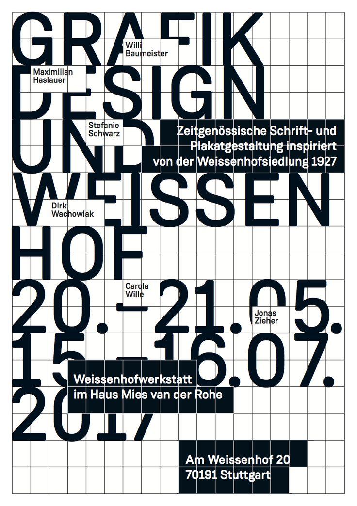 Flyer zur Ausstellung © Stefanie Schwarz und Dirk Wachowiak   Ab 19. Mai 2017: http://page-online.de/typografie/der-einfluss-der-weissenhofsiedlung-auf-schrift-und-plakatdesign/
