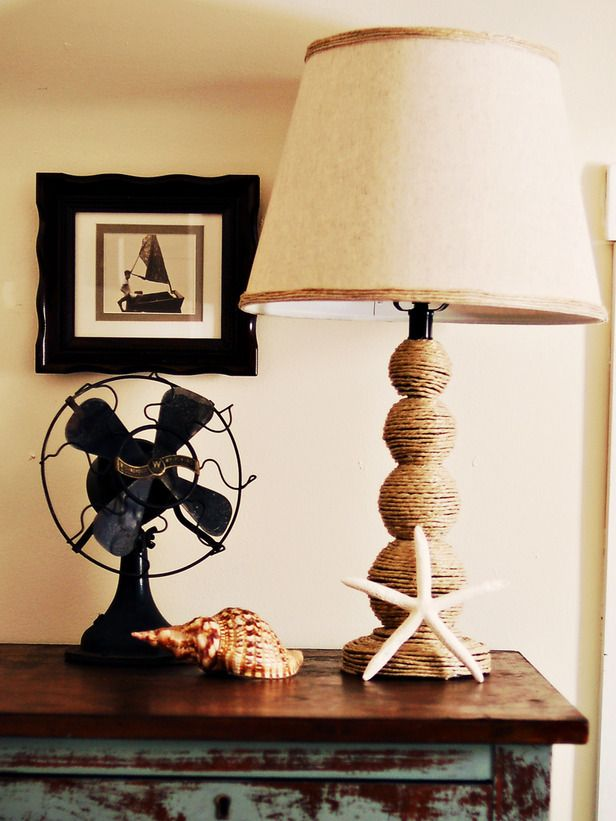 How to Make a Nautical-Themed Lamp : Decorating : Home & Garden Television