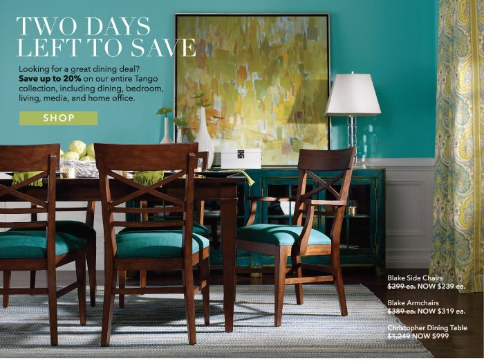 Ethan Allen Summer Essentials Sale Blue Dining RoomsDining