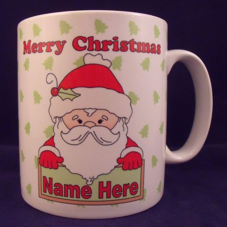 Personalised Christmas Santa Mug - Coaster - Cup - Novelty - Xmas - Gift