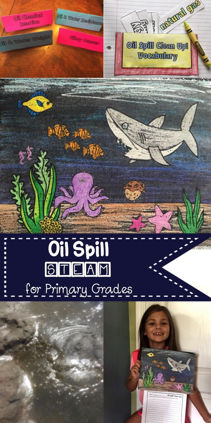 5E lesson plan with science centers, and STEAM   https://www.teacherspayteachers.com/Product/Oil-Spill-Clean-Up-STEAM-with-5E-Lesson-Plan-STEM-Challenge-2654249