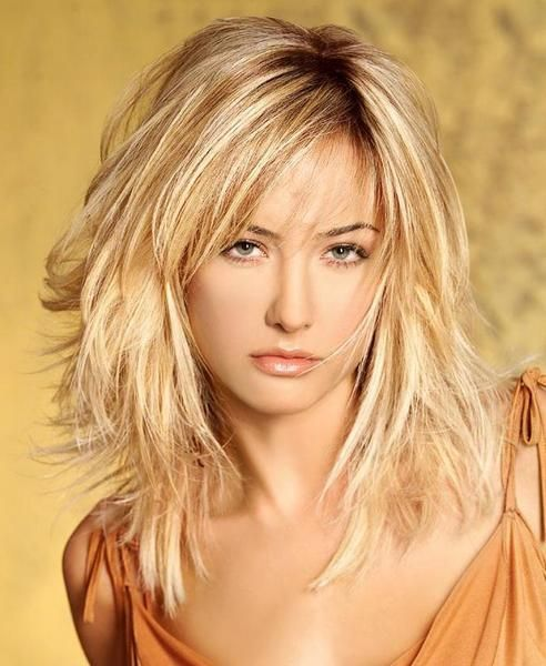 Medium Length Hairstyles For An Oval Face Long A Line With Bangs