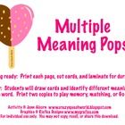 Use these cute heart popsicles to target multiple meaning words and build vocabulary skills!  Included in the download are:  -23 multiple meaning p...