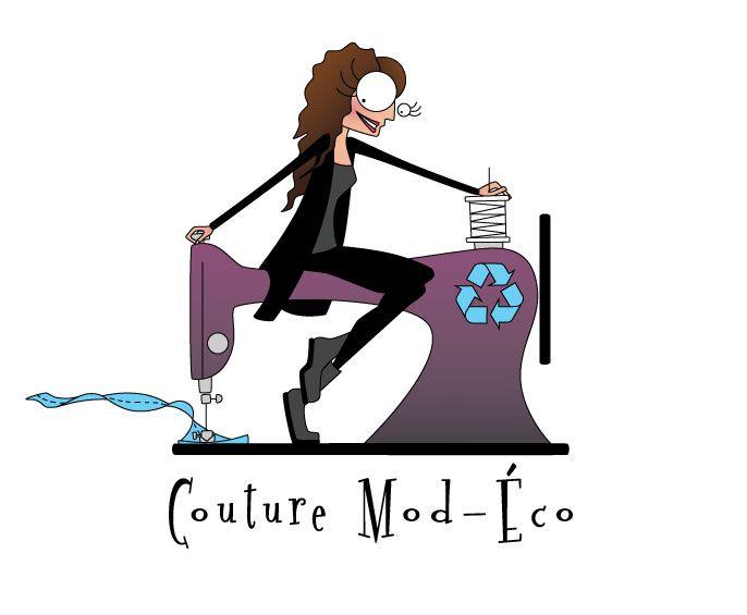 Un logo qui «Punch l'Oeil» pour Couture Mod-Éco!!
