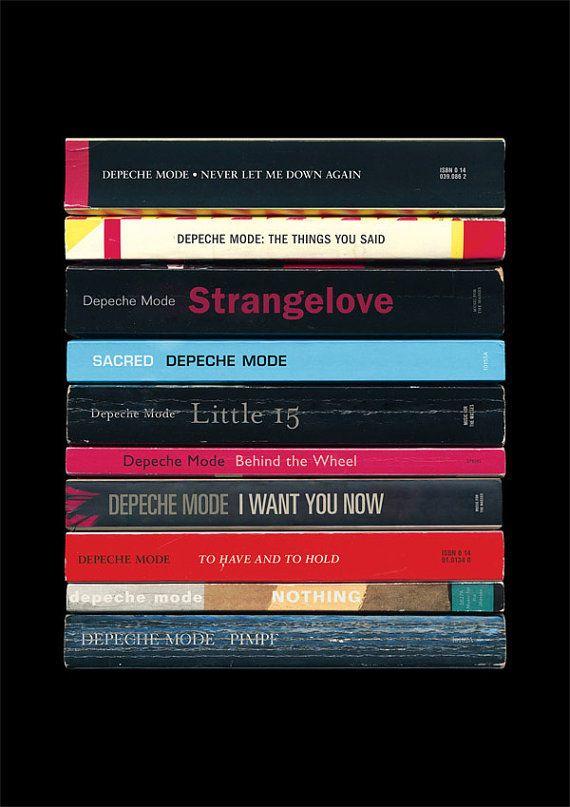 Depeche Mode - 'Music for the Masses' Art Print Albums As Books