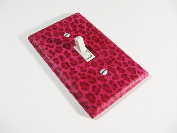 Pink Cheetah Print Girls Bedroom Decor Available from Modern Switch