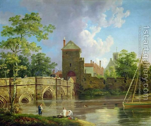"Layerthorpe postern, York    Michael ""Angelo"" Rooker (1746 – 3 Mar 1801) was an English oil and watercolour painter of architecture and landscapes, illustrator and engraver. He was also the principal scene painter at the Haymarket Theatre."