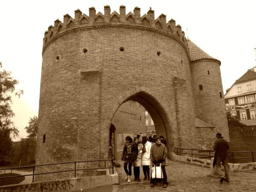 Warsaw - Old bulwark next to the Old Town