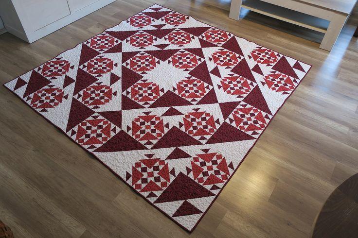 Vánoční red quilt