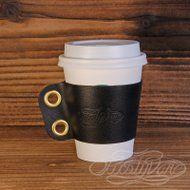 レザーカップスリーブ S  -高級イタリアンレザーブラックの画像
