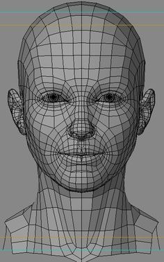 correct face topology cgi - Google Search
