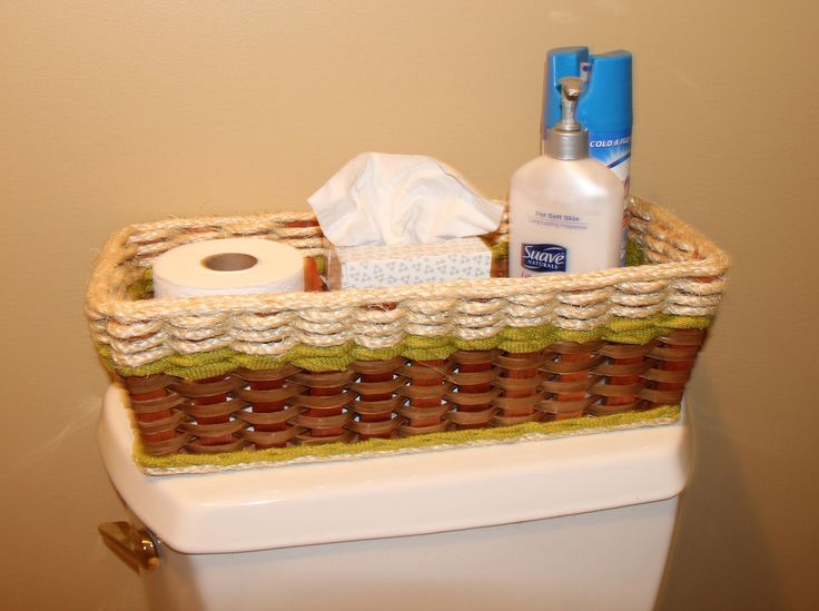 One Of Our Best Baskets For The Bathroom! It Fits On The Tank Of The