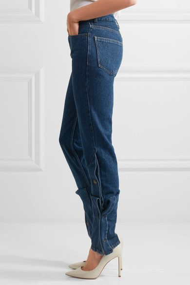 Y/PROJECT - High-rise Bootcut Jeans - Dark denim -