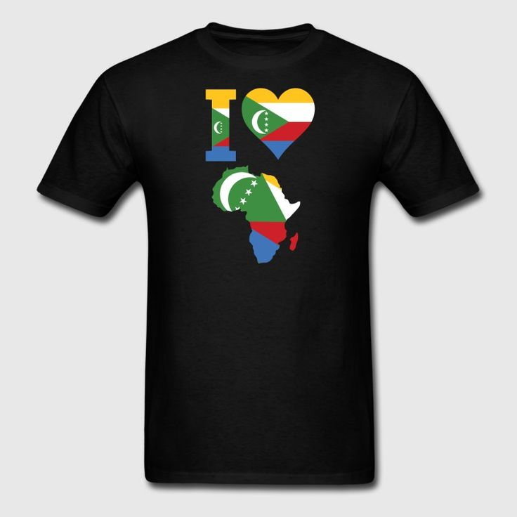 Africa Map Horn Of Africa%0A I Love Comoros Africa Map Men u    s TShirt  black