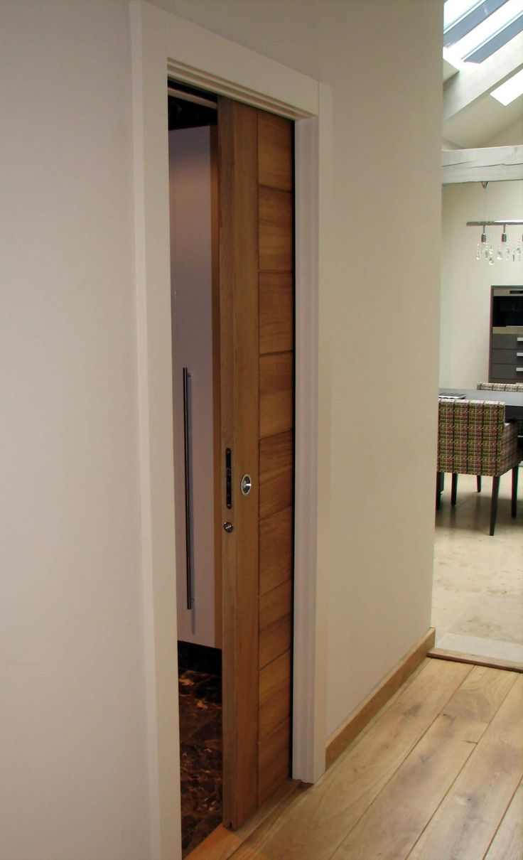 Pocket door kit. Single Eclisse pocket door installed at a private house Harrogate.
