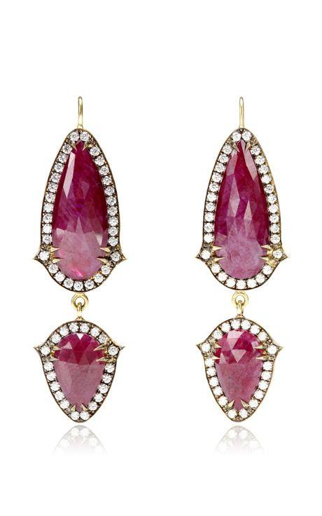 Ruby Drop Earrings Sylva & Cie. o5dPo0m