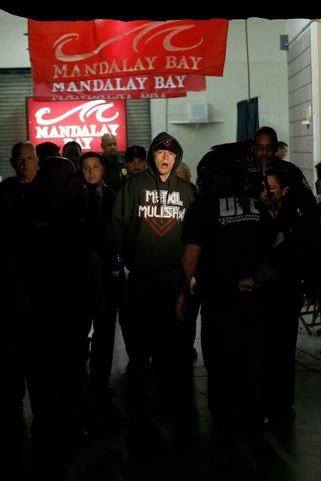 Nate Diaz enters the arena before his fight against Gray Maynard at The Ultimate Fighter 18 finale.