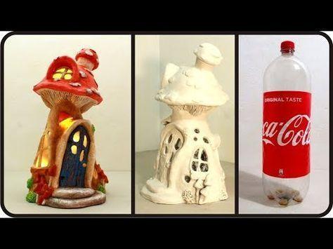 (29) ❣DIY Mushroom Fairy House Lamp Using Coke Plastic Bottle❣ - YouTube