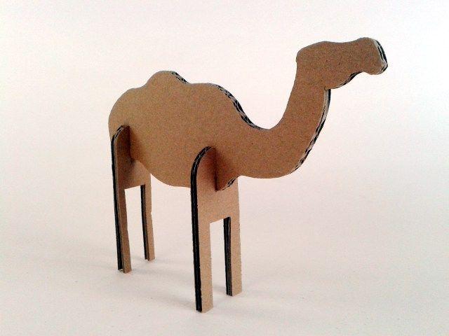Wielblond z kartonu - 4, Zabawki, karton, tektura, zwierzaki, cardboard, toys…