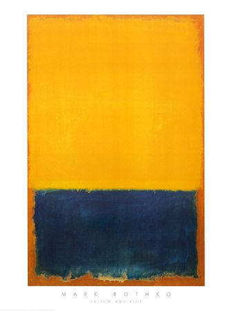 Yellow and Blue Pôsters por Mark Rothko na AllPosters.com.br