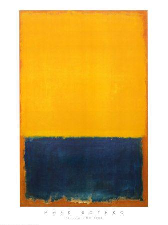 Yellow and Blue Pósters por Mark Rothko en AllPosters.es