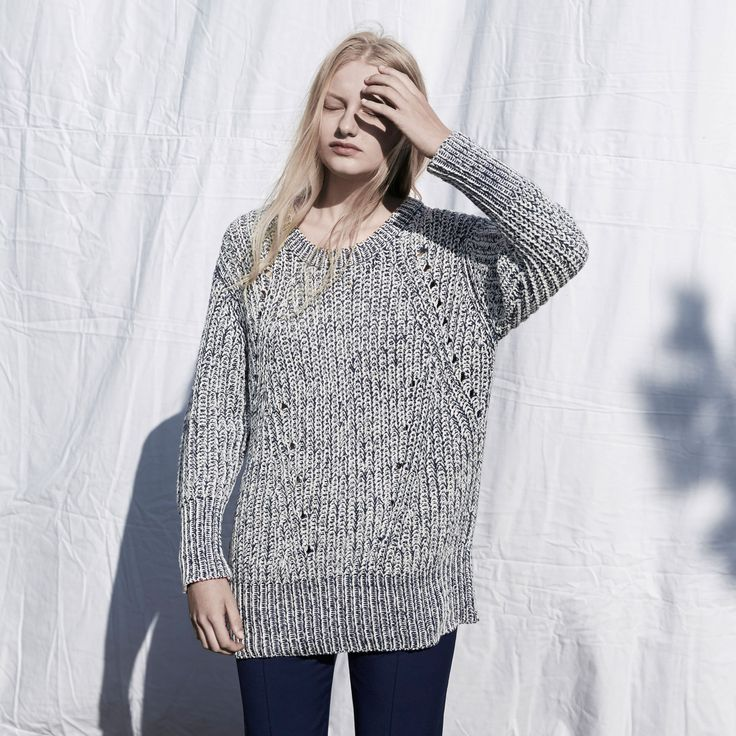 FWSS Sleep Sound is a chunky knit with an oversized fit and rib detailing. Knitted in mixed cotton yarn.