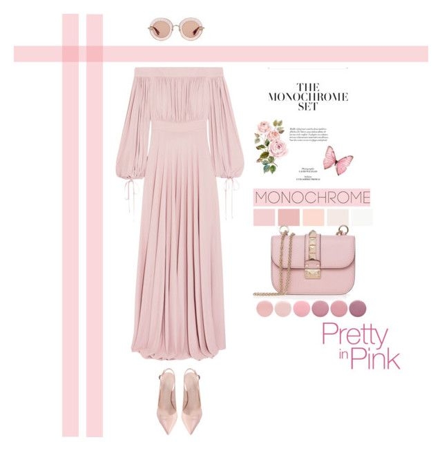"""""""Color Me Pretty: Head To Toe Pink (Top Fashion Set 10/05/2017)"""" by southindianmakeup1990 ❤ liked on Polyvore featuring Alexander McQueen, Gucci, Deborah Lippmann and Valentino"""