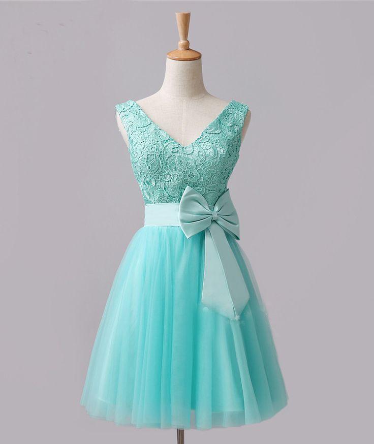 Tiffany Blue And Black Wedding Ideas: Bridesmaid Dresses Tiffany Blue Lace Bridesmaids Dress