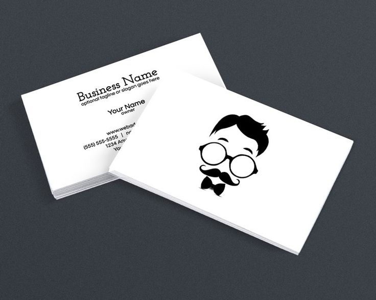 19 best simple business card designs images on pinterest blog modern business card design cool hipster dude 4c reheart Image collections