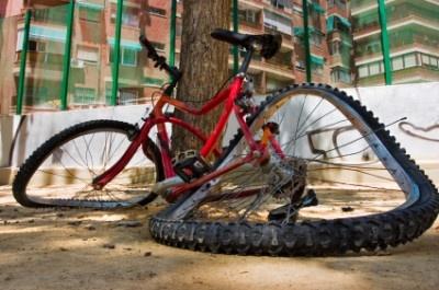 Looks like this bike is melting!