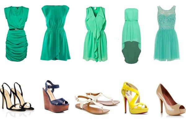 Платье мятного цвета. Как и с чем его носить ?
