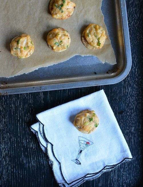 Sriracha Crab Puffs Recipe -- easy to make and eat. These one-biters are also gluten-free.