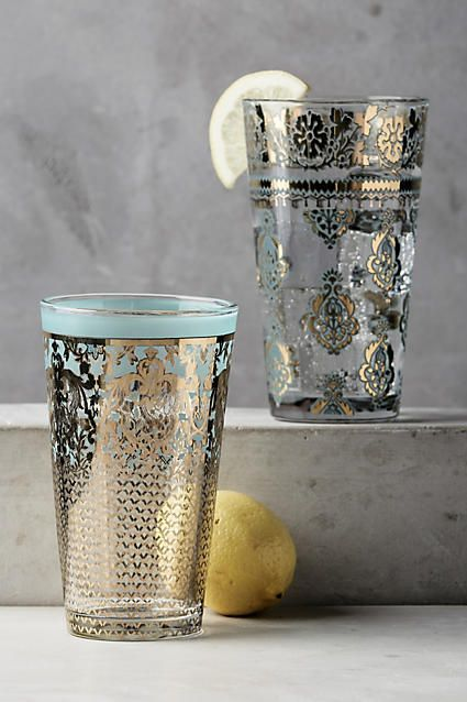 Gorgeous detailed glasses, ideal for a stand-out dinner party.
