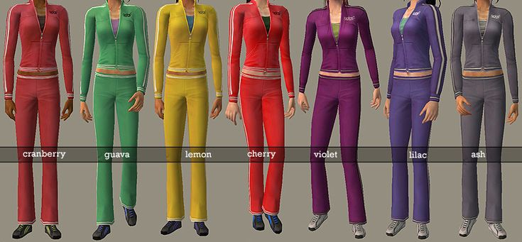 ModTheSims - *FIXED* 7 Recolors of Teen Female Athletic wear