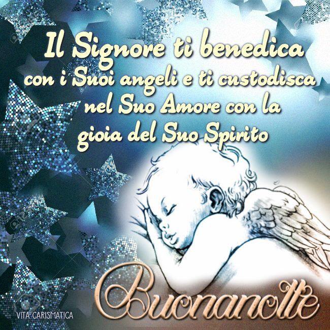 Il Signore vi benedica con i Suoi angeli e vi custodisca nel Suo Amore con la gioia del Suo santo Spirito.