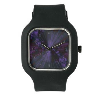 Shattered In Deep Purple Clock Watch