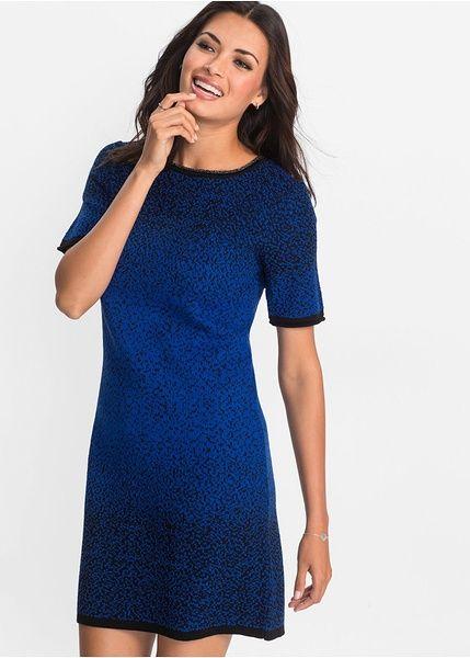 Φόρεμα της BODYFLIRT με όμορφη ντεγκραντέ απόχρωση και ελαφρώς glitter νήμα. Με μανίκια μεσαίου μήκος και μπορντούρες σε μαύρο χρώμα. Μήκος περίπου 90 εκ. Από 100% ακρυλικό.