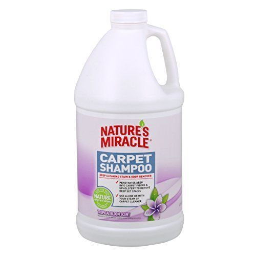 Nature's Miracle Tropical Bloom Scent Deep Cleaning Carpet Shampoo Bloom .5 Gal. #NaturesMiracle