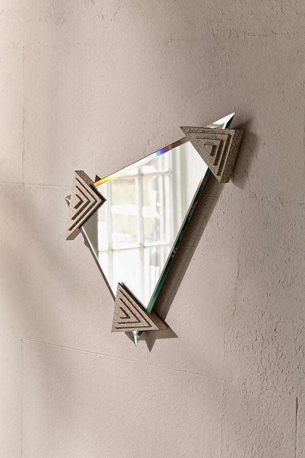 Odd Eye For Urban Renewal One Of A Kind Triangle Wall Mirror