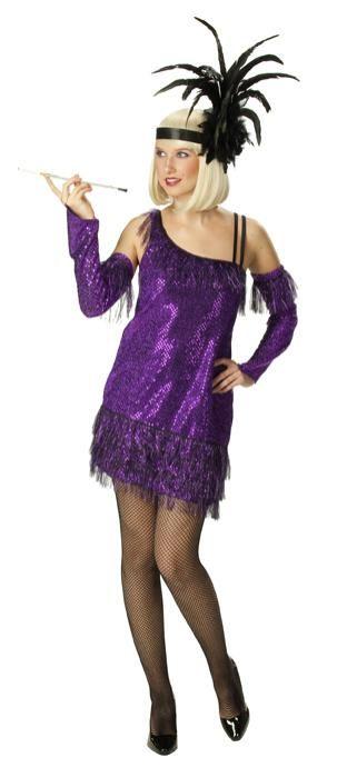 Charleston jurk lila plus size - Las Fiestas